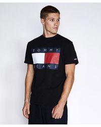 Tommy Hilfiger Tjm Flag T-shirt Black