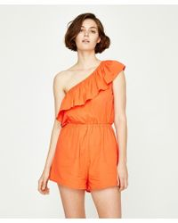 The Fifth Label Verse Playsuit Orange - Red