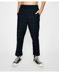 Insight - Airhead Check Pant Bottle Navy - Lyst