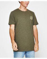 Rhythm - Down Under T-shirt Olive - Lyst