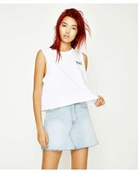 RVCA - Feelin' Muscle Tank White - Lyst