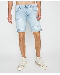Neuw Ray Denim Shorts Axis Trashed Blue