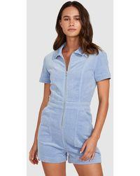 Insight Avianna Cord Boiler Suit Vintage Blue