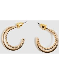 Alice In The Eve Tina Twisted Double Hoops - Metallic