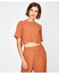 MINKPINK Mara Tie Back Crop T-shirt - Orange