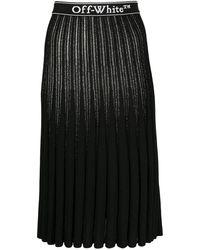Off-White c/o Virgil Abloh Logo Trim Skirt - Black