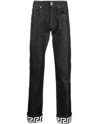 Versace Jeans neri con stampa Chiave Greca - Nero