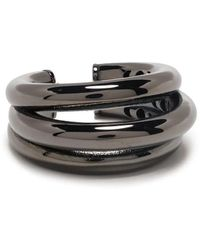 FEDERICA TOSI Small Silver Tube Adjustable Ring - Metallic