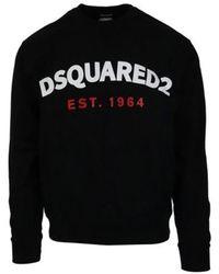 DSquared² Logo Print Sweatshirt - Black