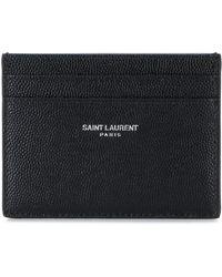 Saint Laurent - Leather Wallet - Lyst