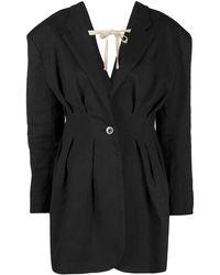 Jacquemus Giacca da abito nera La veste Camargue - Nero