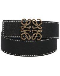 Loewe Black Anagram Leather Belt