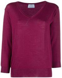 Prada Three-quarter Sleeves Pullover - Purple