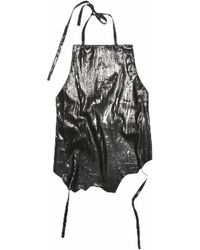 Acne Studios Metallic Black Leather Top