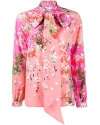Givenchy Blusa con fiocco rosa stampa floreale