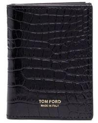 Tom Ford Black Crocodile Effect Wallet