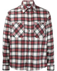 Off-White c/o Virgil Abloh Cottom Check Arrows Shirt - Red