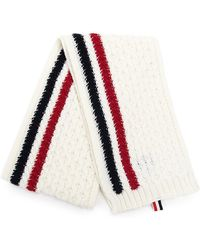Thom Browne - Knitted Striped Scarf - Lyst