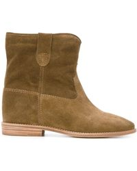 Isabel Marant Brown Suede Crisi Boots