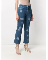 Stella McCartney Star-print Straight-leg Jeans - Blue