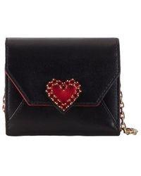 Roger Vivier Heart Strass Mini Wallet - Black