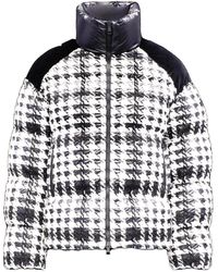 Moncler - Black And White Erine Down Jacket - Lyst