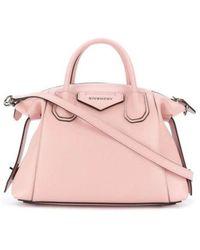 Givenchy Borsa Antigona Soft piccola in pelle - Rosa