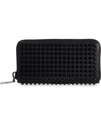 Christian Louboutin - Panettone Embellished Ziparound Leather Wallet - Lyst