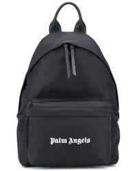 Palm Angels Logo-print Backpack - Black