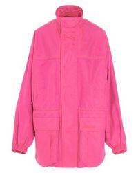 Balenciaga Fluo Pink Tech Fabric Parka