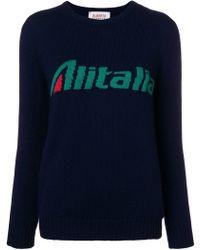 Alberta Ferretti - Alitalia Intarsia Jumper - Lyst