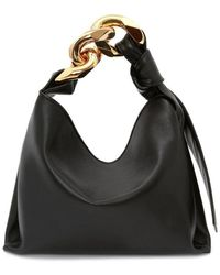 JW Anderson Black Small Chain Hobo Bag
