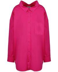 Balenciaga Shirt With Back Logo - Pink