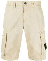 Stone Island Beige T.co Old Cargo Bermuda Shorts - Natural