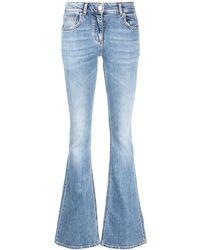 Blumarine Jeans dritti blu a zampa