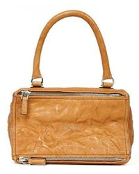 Givenchy Small Pandora Bag In Aged Brown Leather