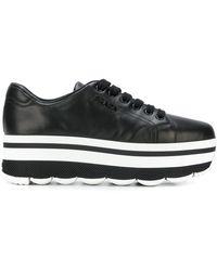 Prada - Waved Sole Platform Sneakers - Lyst