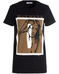 Max Mara T-shirt Drivina in cotone nero