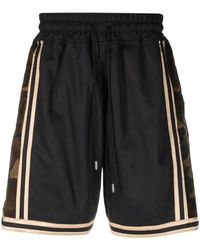 Just Don Shorts con stampa camouflage - Nero