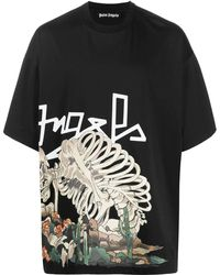 Palm Angels T-shirt Desert Skull - Bianco