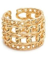 FEDERICA TOSI - Gold Layered Cable Link Chain Wide Ring - Lyst