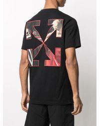 Off-White c/o Virgil Abloh Black Caravaggio Graphic Print Slim T-shirt