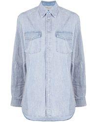 Golden Goose Blue Long-sleeve Denim Shirt