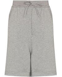 Y-3 Drawstring Wide-leg Track Shorts - Grey