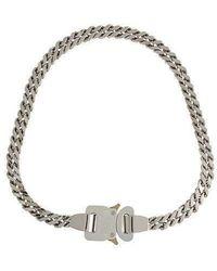1017 ALYX 9SM Silver Cubix Chain Necklace - Metallic