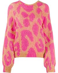 Stella McCartney Leopard Knit Jumper - Multicolour