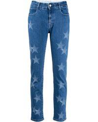 Stella McCartney Star-print Slim-fit Jeans - Blue