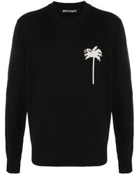 Palm Angels Palms Merino Sweater - Black