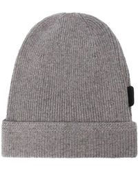 Tom Ford Ribbed Knit Cashmere Beanie - Grey