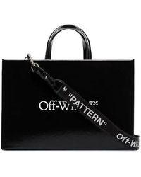 Off-White c/o Virgil Abloh Black Medium Logo Box Bag